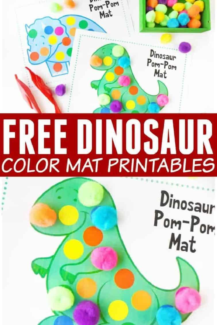 Fine Motor Activities Preschool Curriculum Dinosaur Pom Pom Mats Dinosaur Printables Pom Pom Play Printable Home school