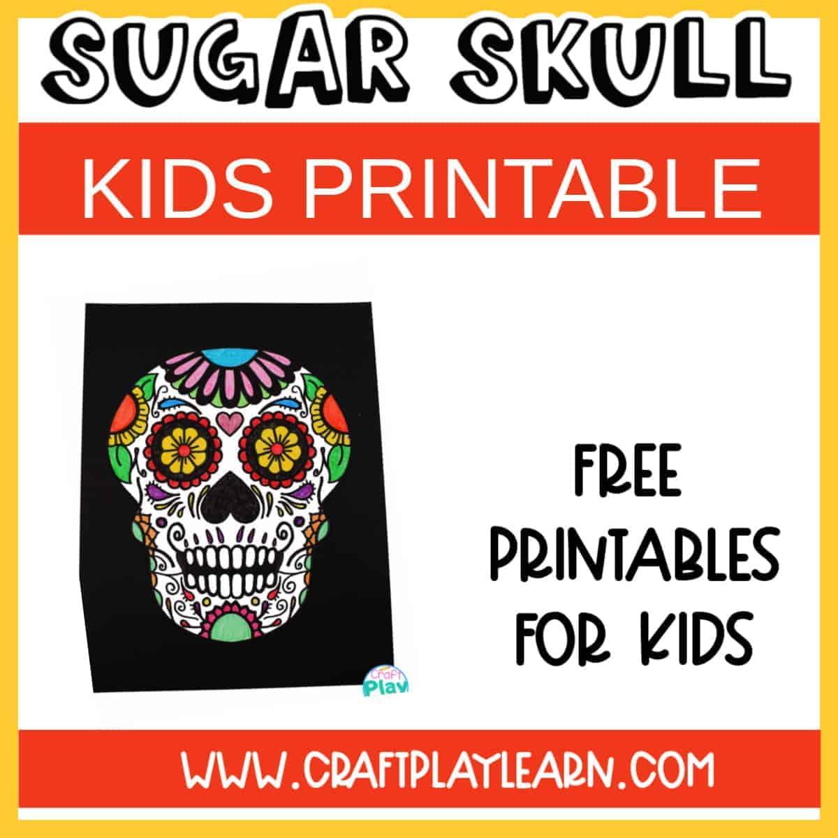 sugar skull craft fir kids