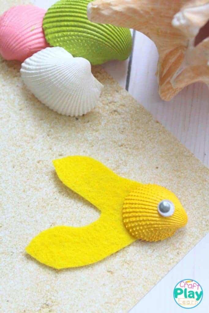 Angelfish-craft made with seashell