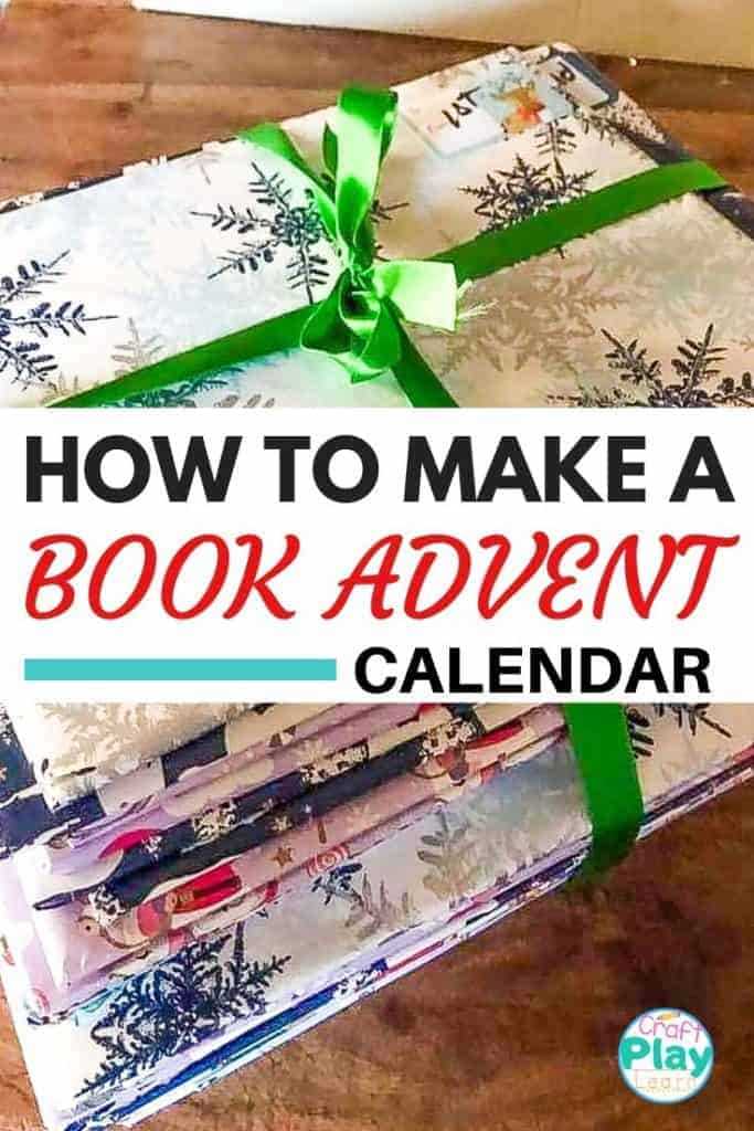 how to make a Christmas book advent calendar for kids