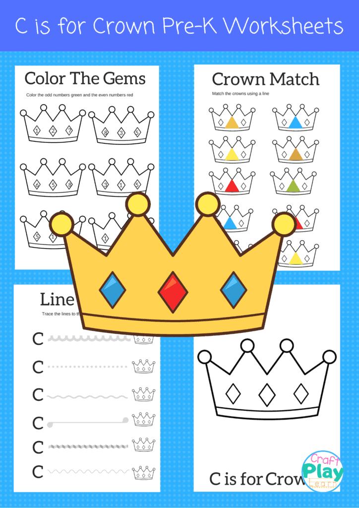 letter C worksheets for kids