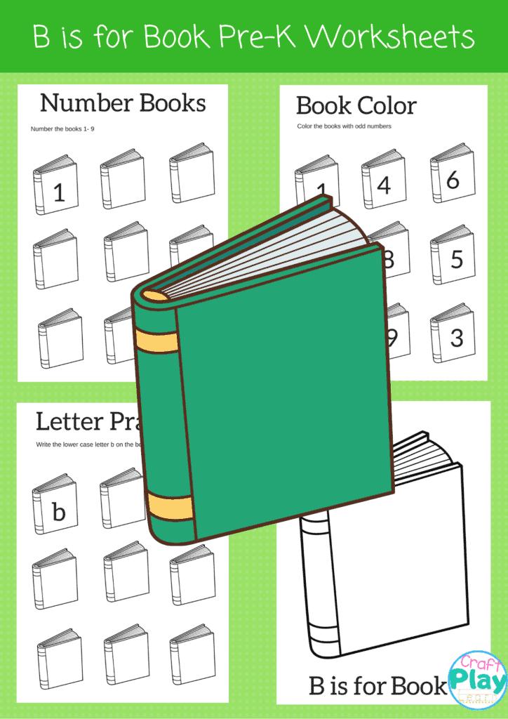letter b printable worksheets for preschool kids