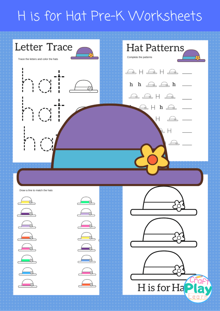letter h worksheets for preschool kids