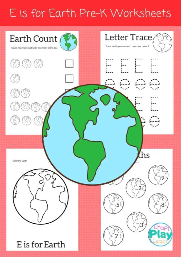 letter e worksheets