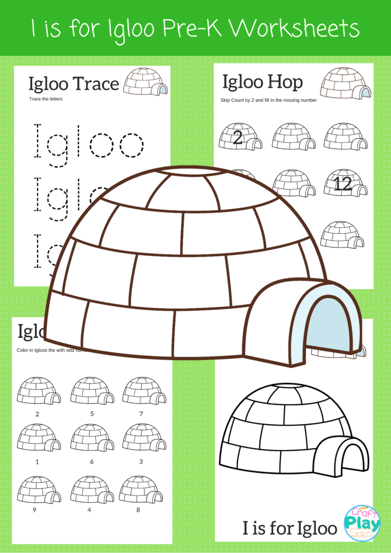 letter I worksheets for preschool