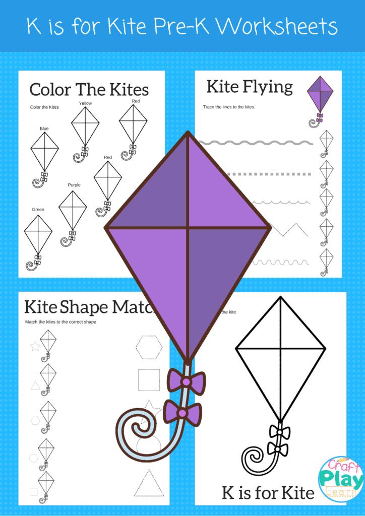 letter k worksheets for preschool kids