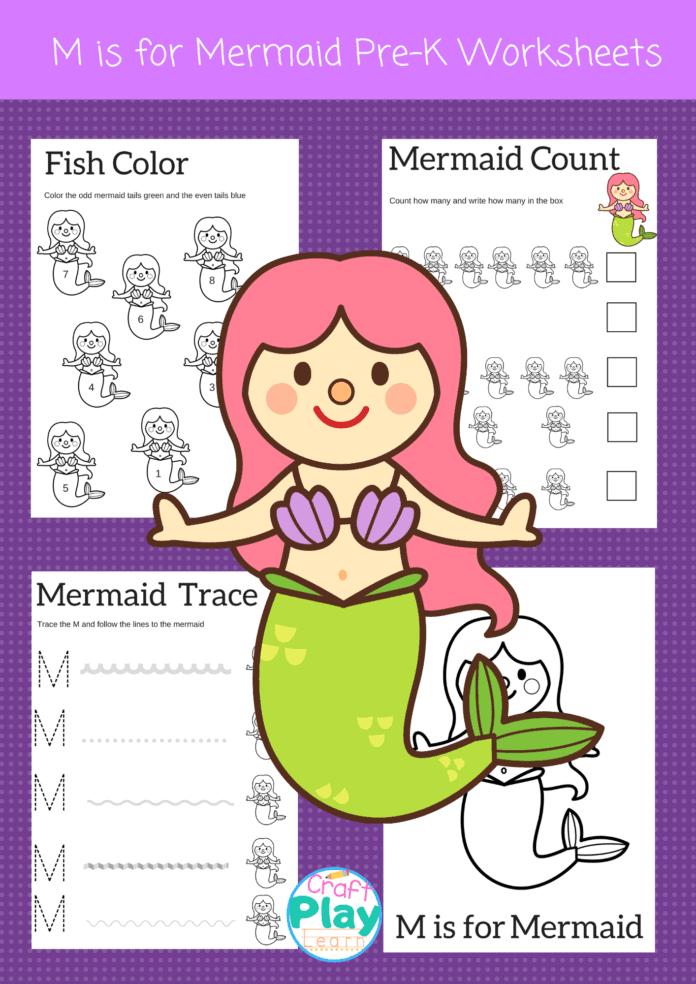 letter M worksheets for preschool kids