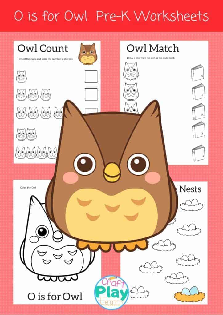 letter o worksheets for preschool kids