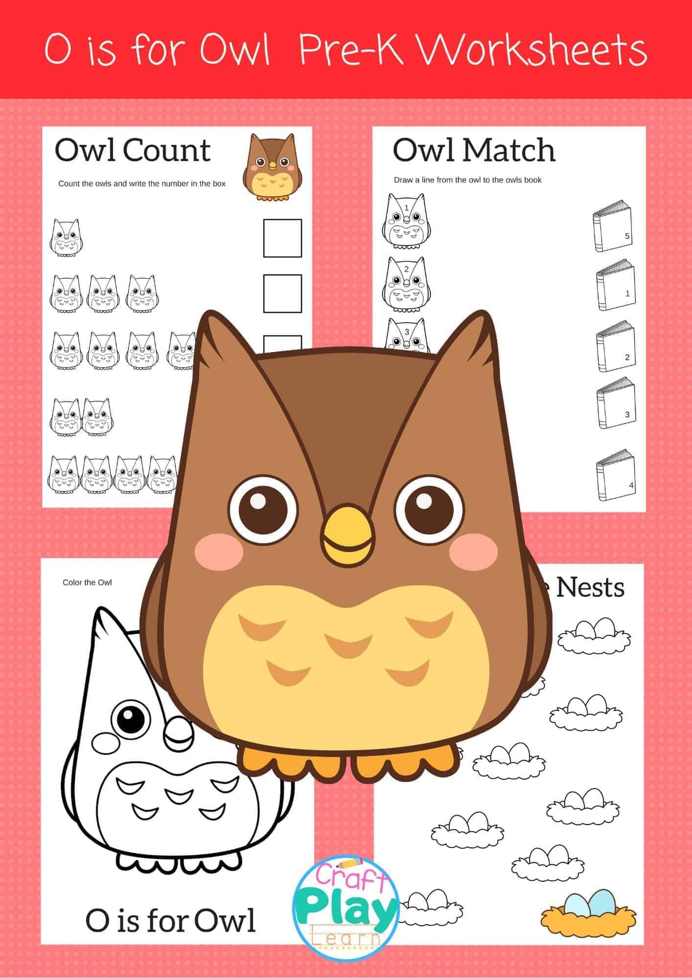 letter o worksheets for preschool kids