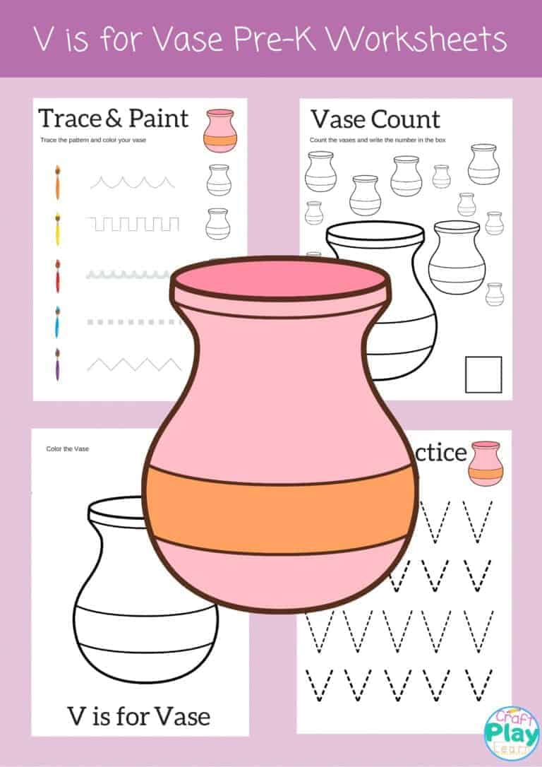 letter v worksheets for preschool kids