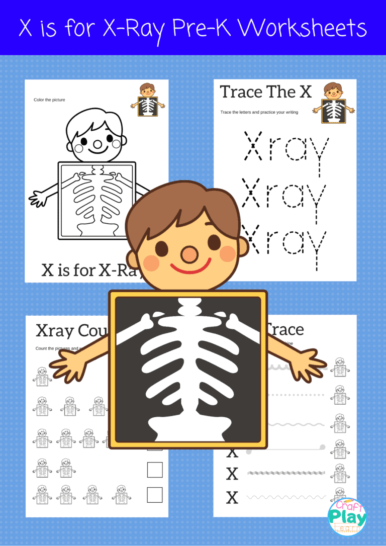 letter x worksheets for preschool kids