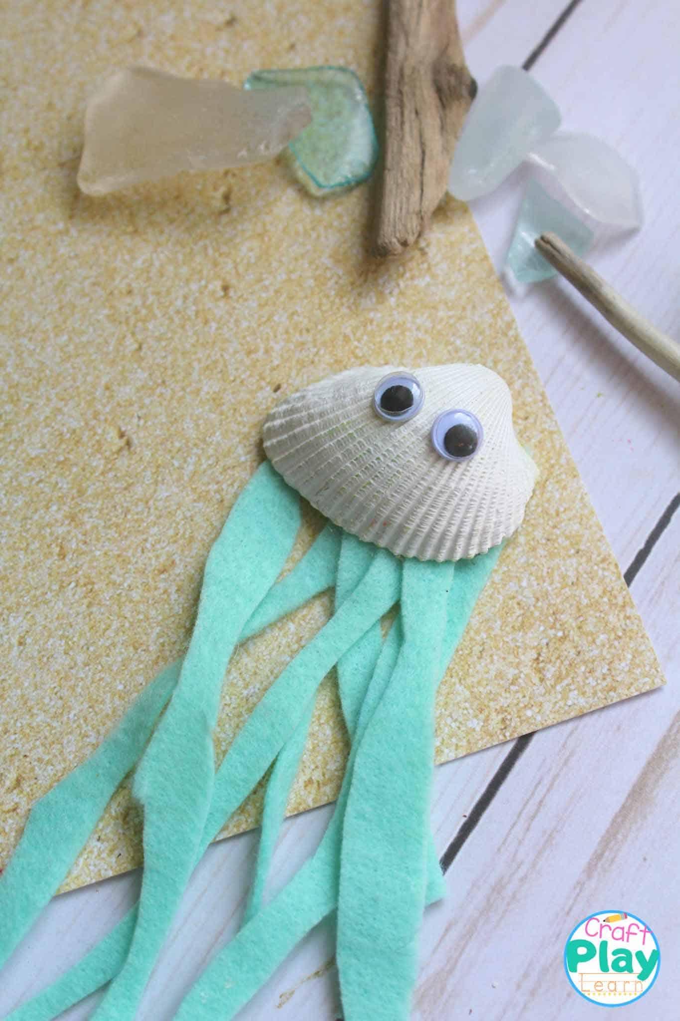 jellyfish craft for preschool kids to make