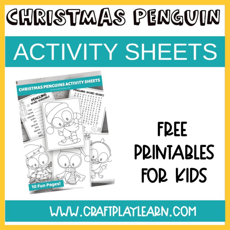 Penguin Activity Sheets