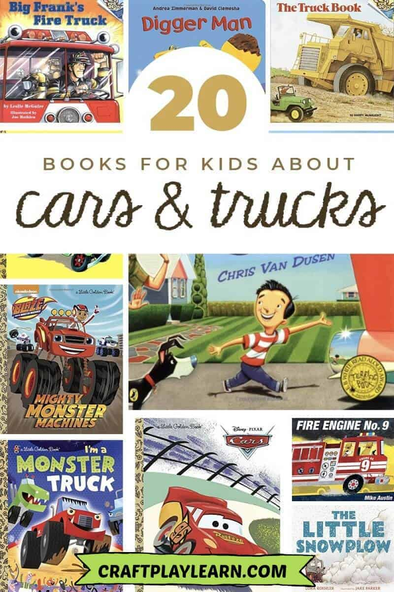 books about cars and trucks for kids