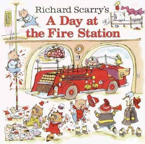 a day at the firestation a kids book about fire engines