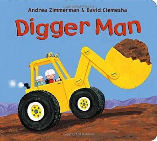 digger man book for kids about diggers and trucks