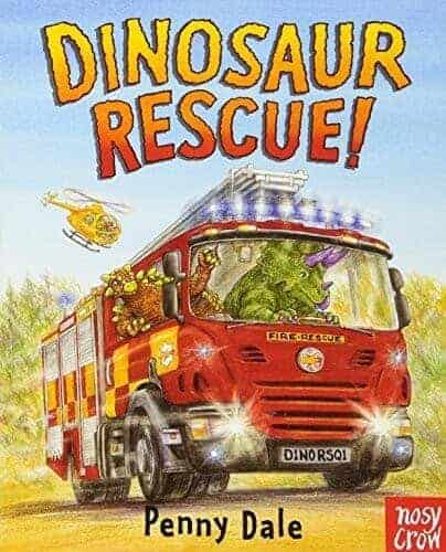 dinosaur rescue about a fire engine book for kids
