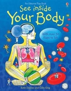 see inside your body a book for kids about the body with a skeleton on the front cover