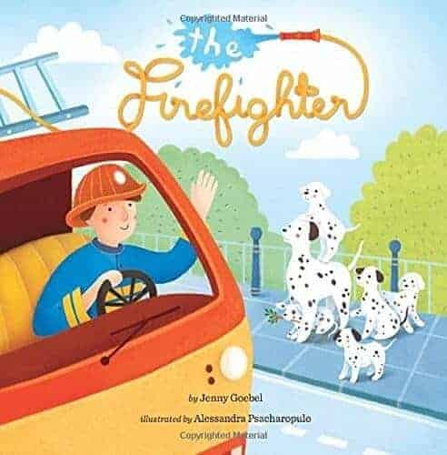 the firefighter book about a fireman and a firetruck