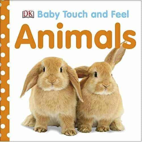 baby touch and feel animals book for kids