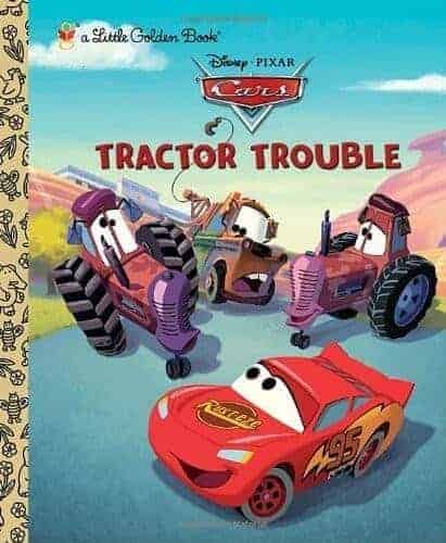 tractor trouble and disney book about trucks and cars