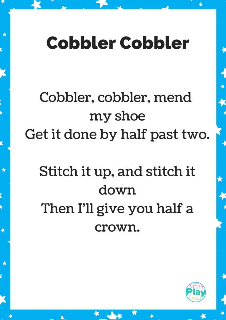 cobbler cobbler song