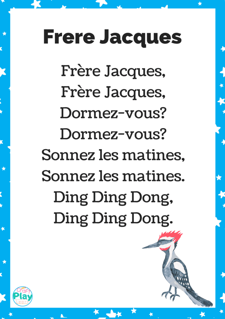 frere jacques song and words