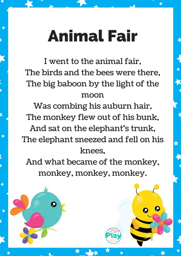 Animal fair song lyrics