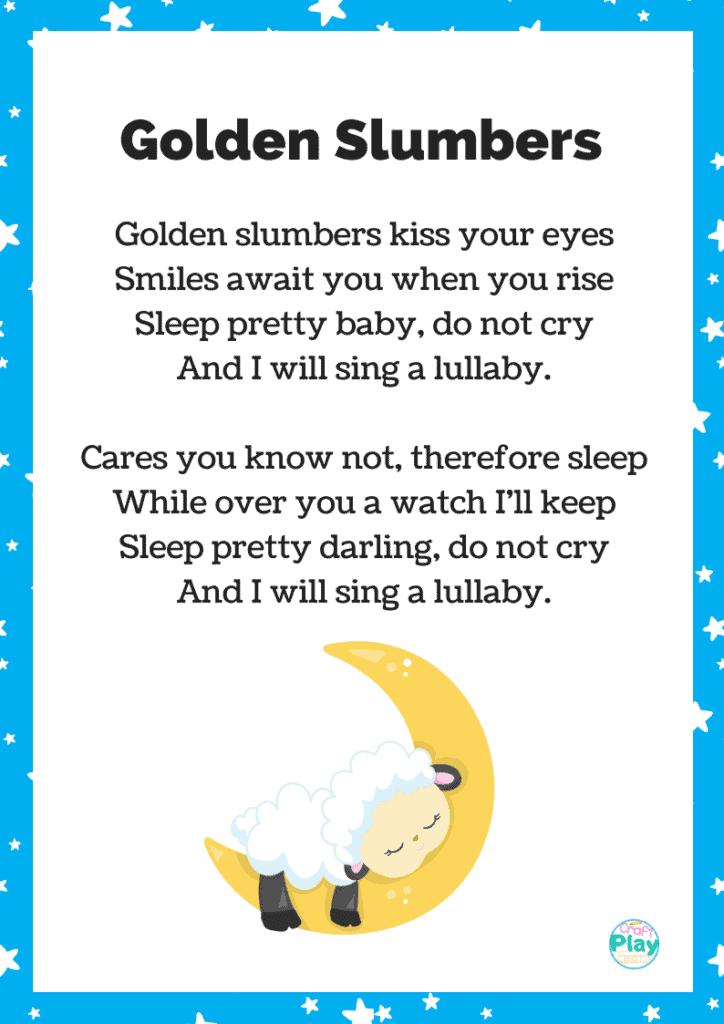 golden slumbers nursery rhyme