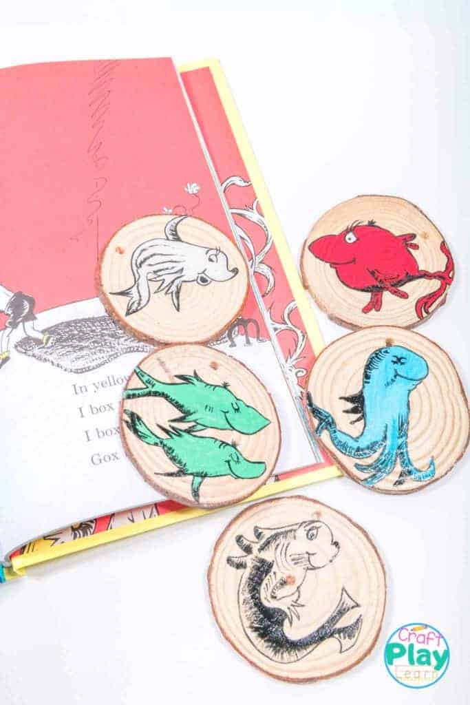 One Fish, Two Fish Wooden Slices Craft