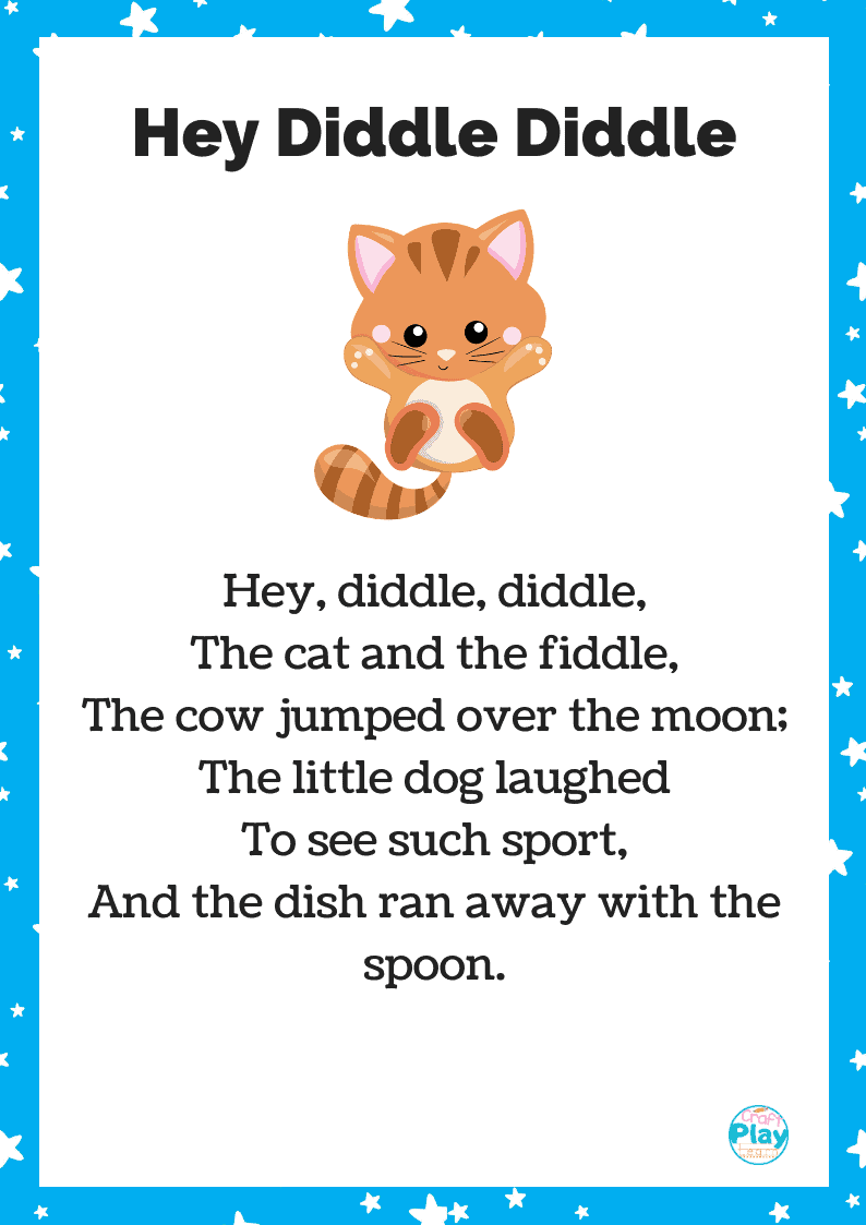 hey diddle diddle song and printable