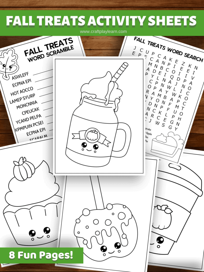 fall activity sheets for kids
