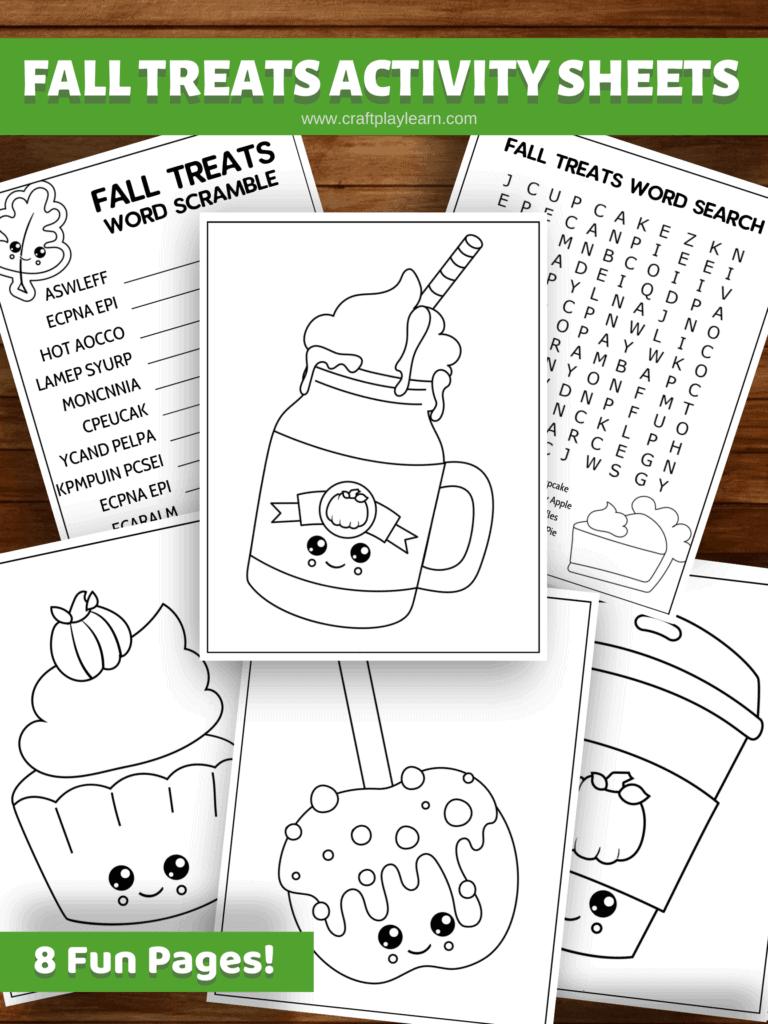 Fall Treats Activity Sheets