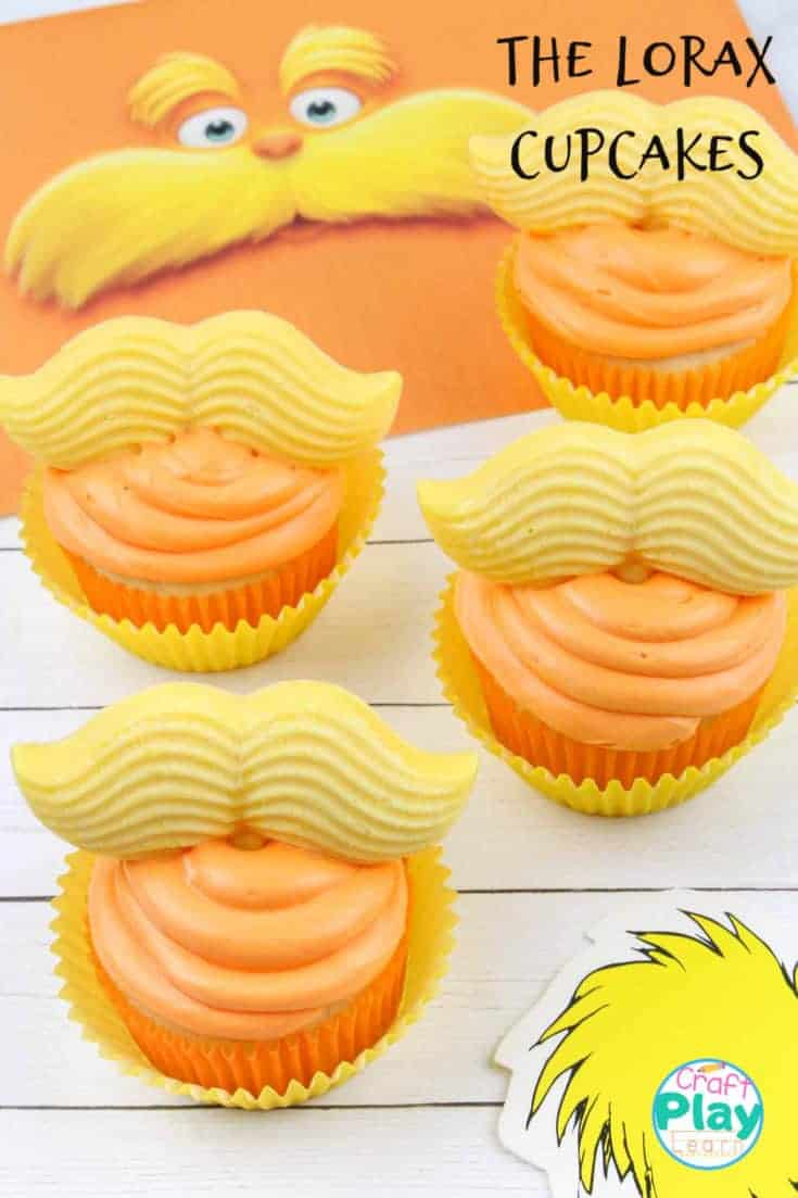 the lorax cupcakes for dr seuss day