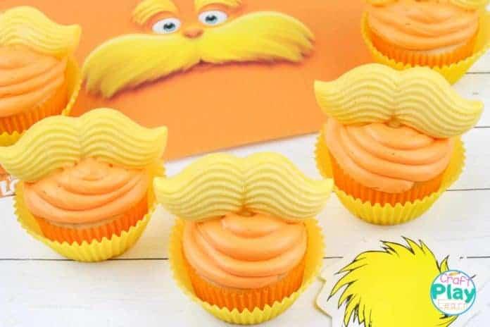 the lorax dr seuss cupcakes