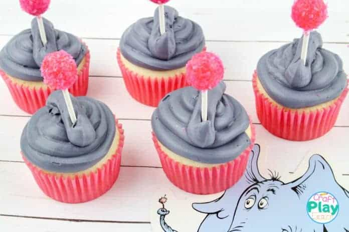 elephant cupcakes from dr seuss book