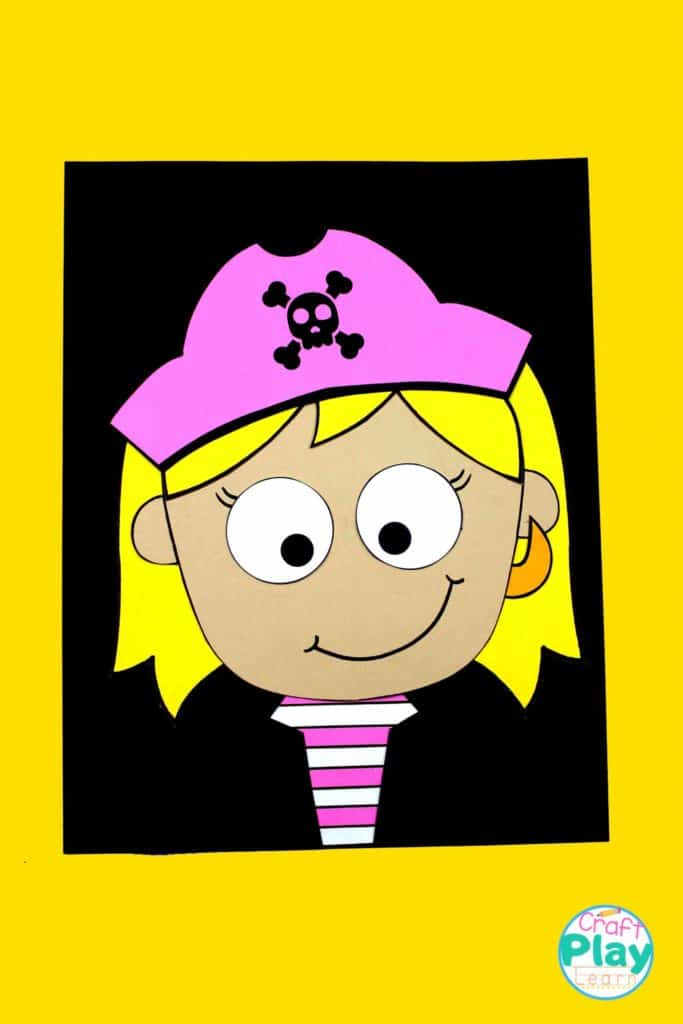 girl pirate craft for kids
