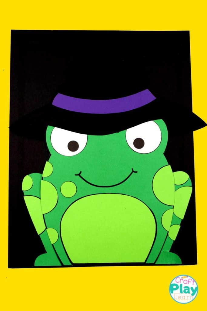 halloween frog craft and activity for kids