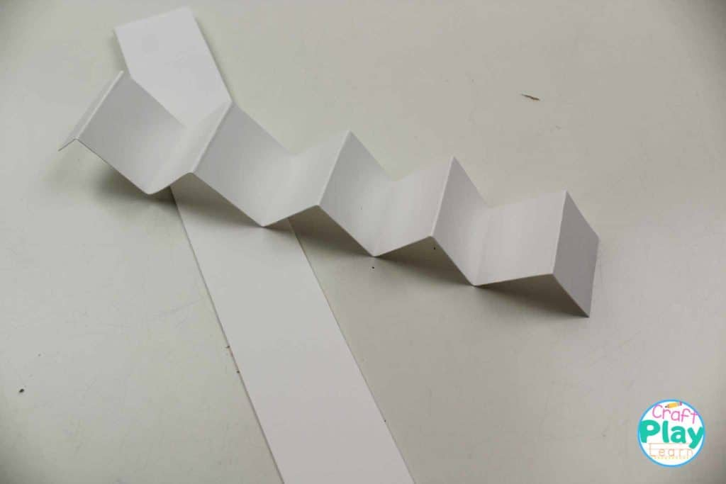accordion legs made from paper for kids christmas craft