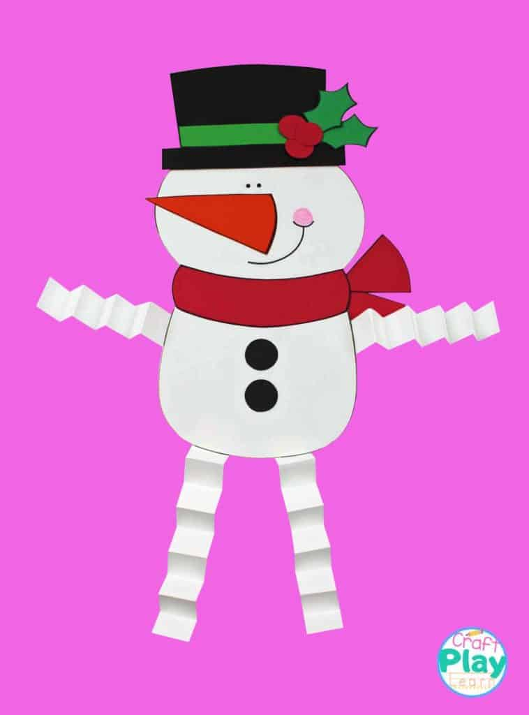 how to make a paper snowman from paper