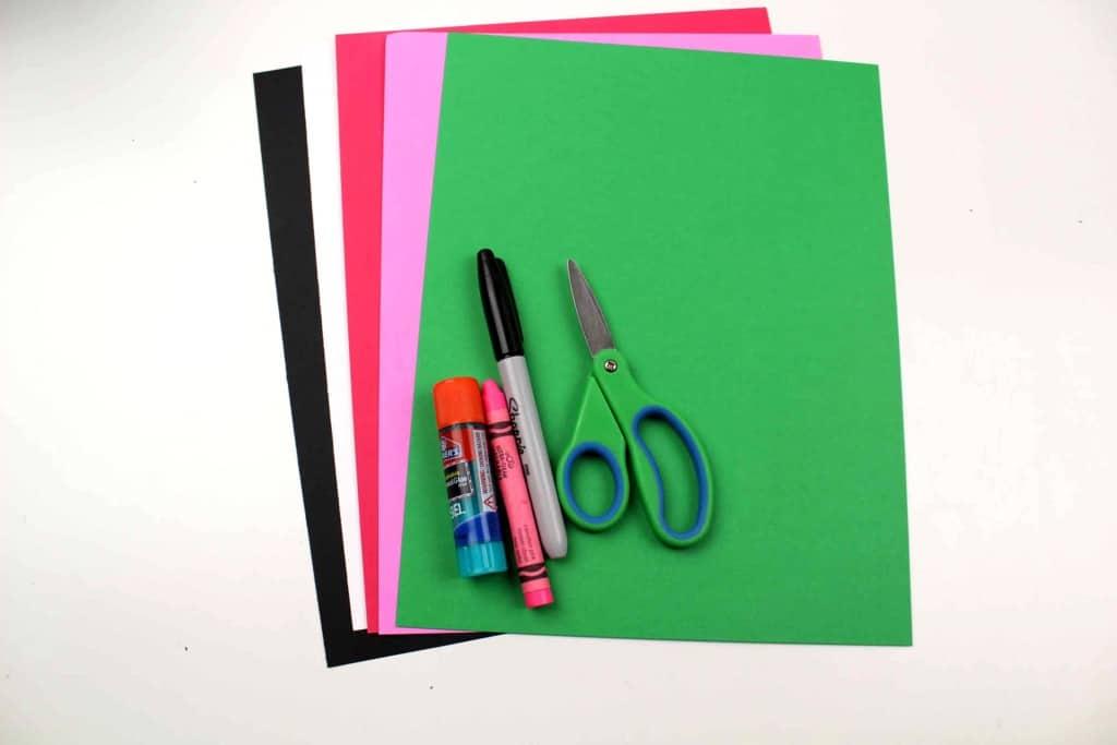 supplies for polar bear paper craft