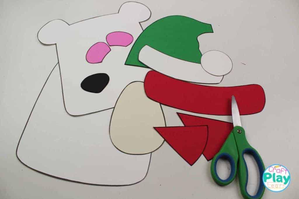steps for polar bear craft