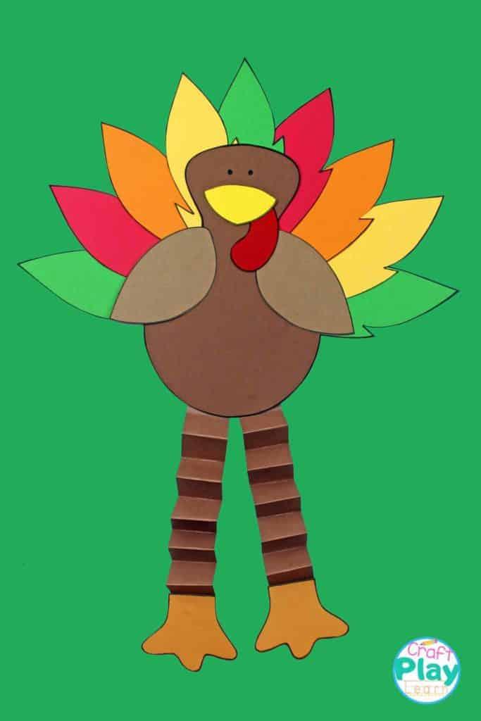 easy thanksgiving turkey paper craft