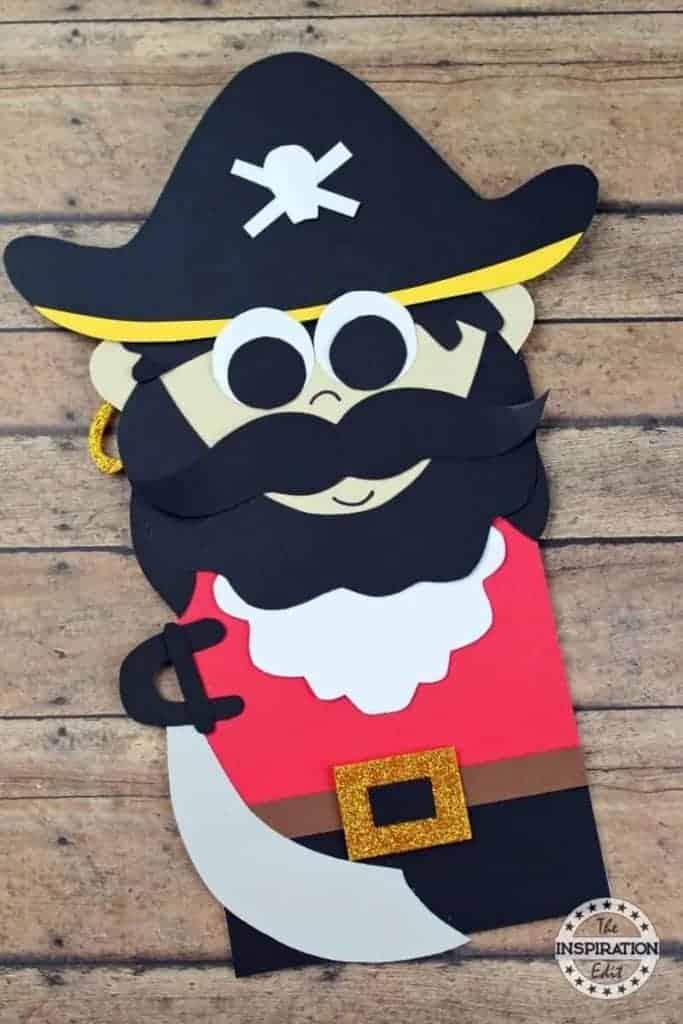 captain hook paper craft puppet