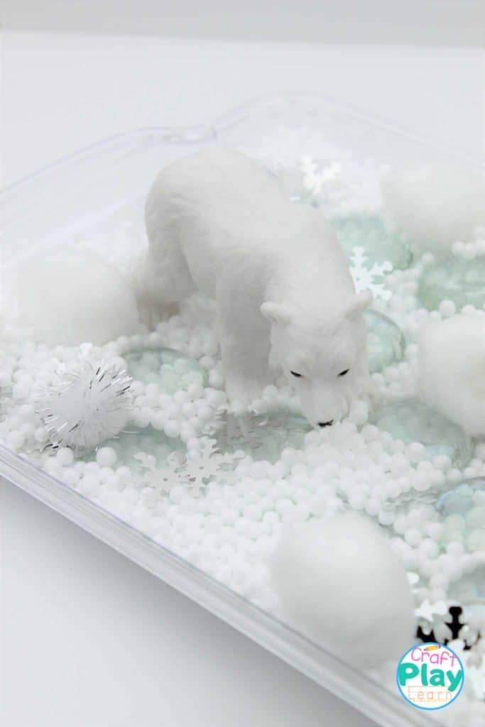 Polar Bear Sensory Bin