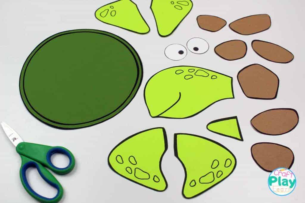 bits and pieces of sea turtle craft