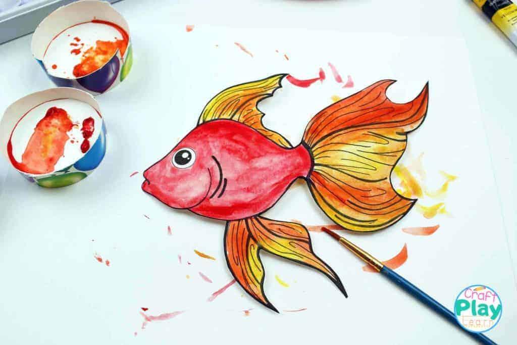 watercolor fish template