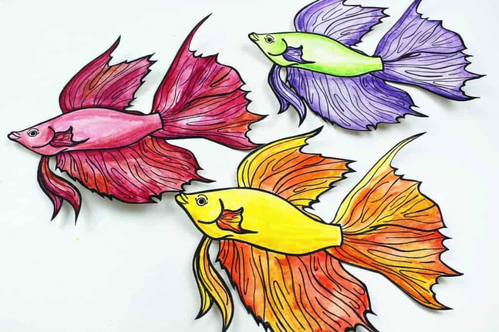 betafish art project for kids