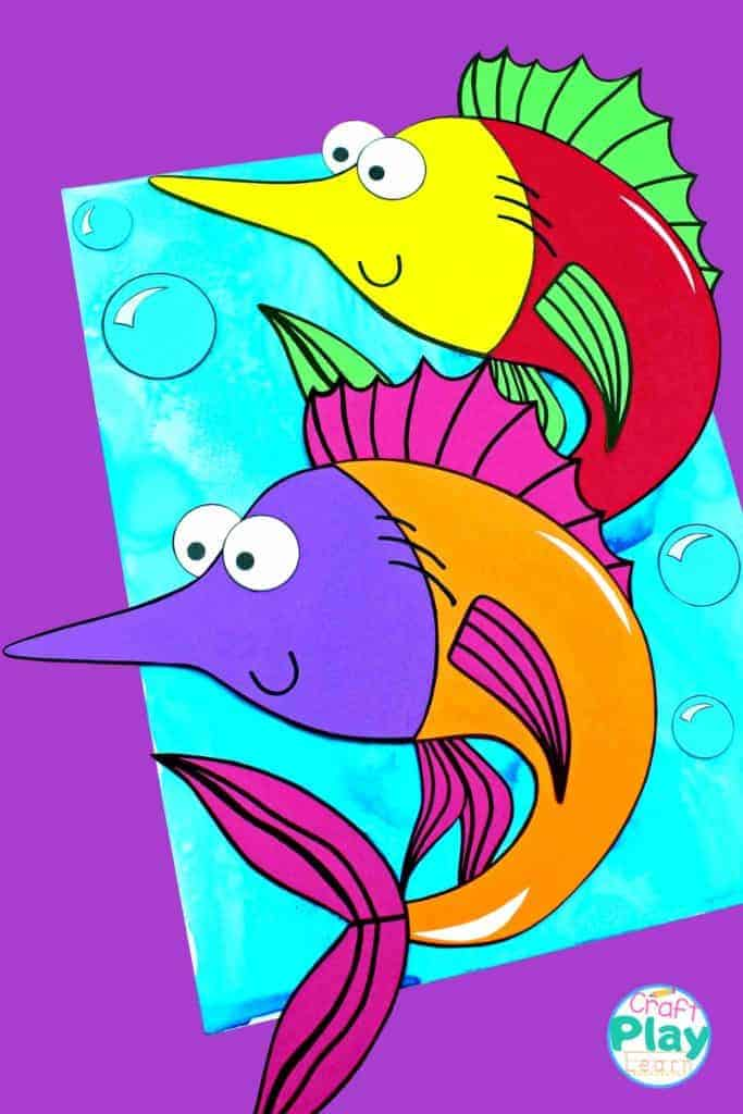 diy swordfish craft for kids