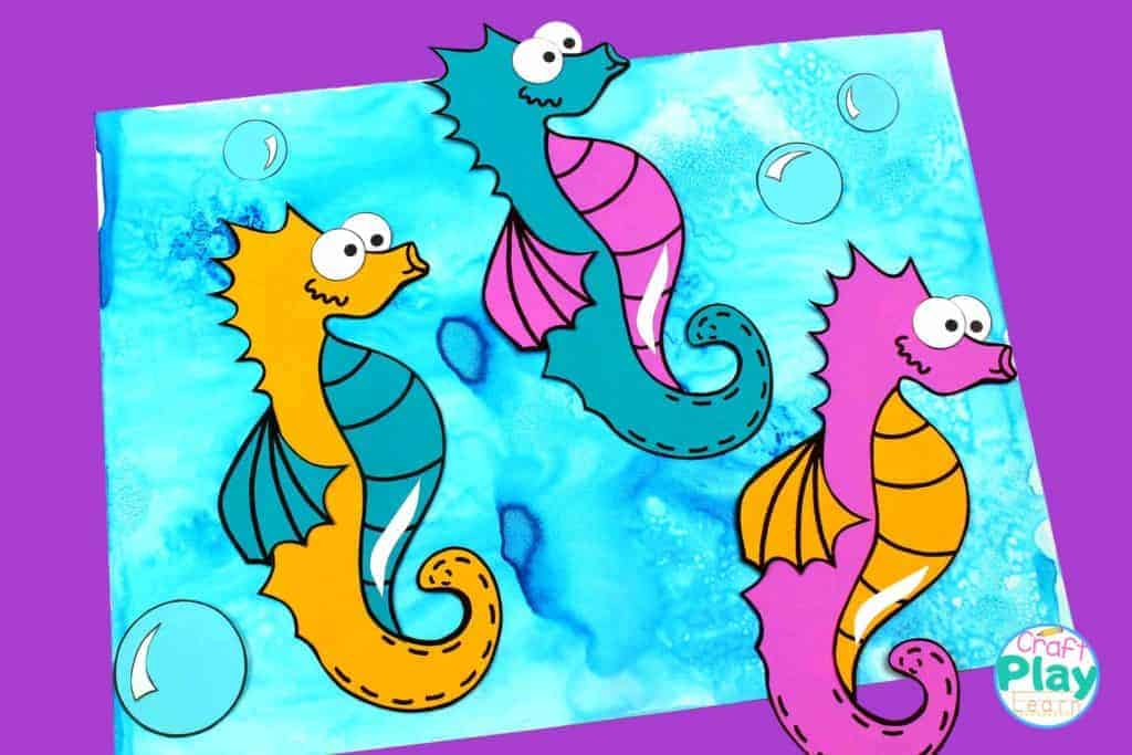 seahorse art for kids to make